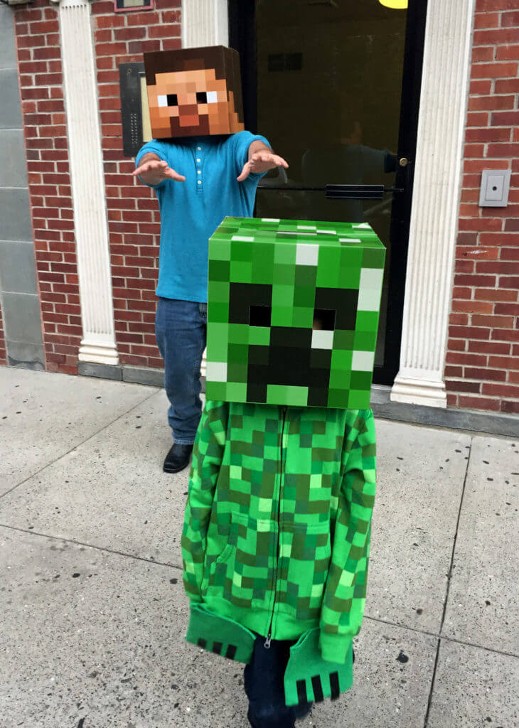 Live Action Halloween Steve and Creeper