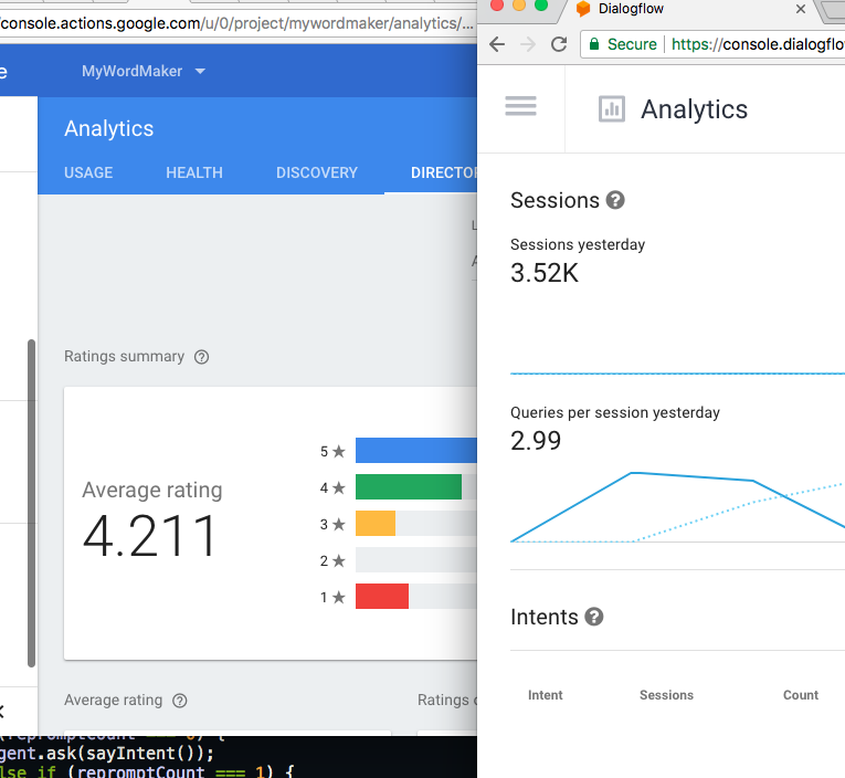 Word Maker Analytics with a 4.2 rating and 3500 conversations